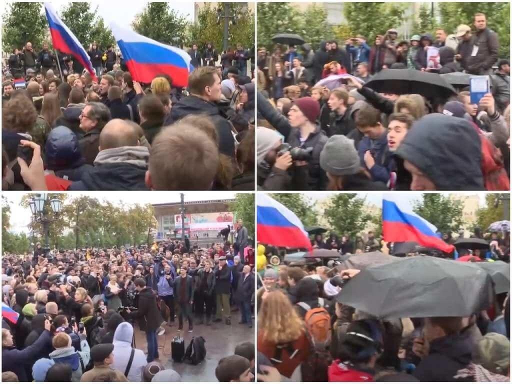 На фото акция против Путина (часть 1).