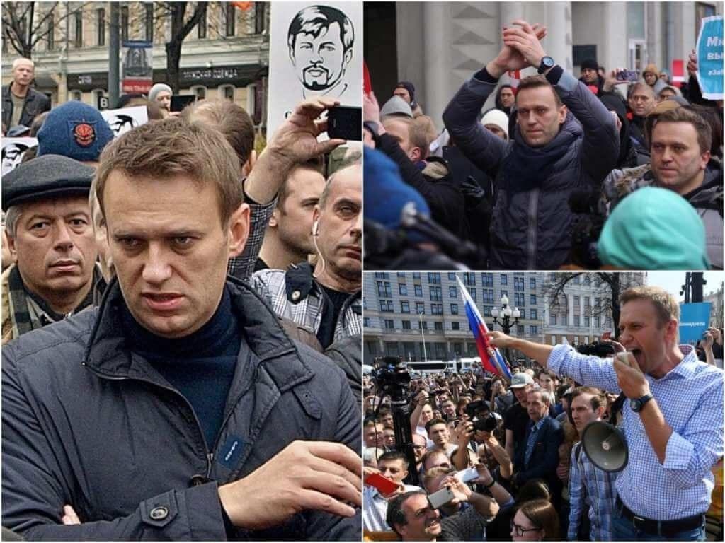 На фото Алексей Навальный на митинге (часть 5).
