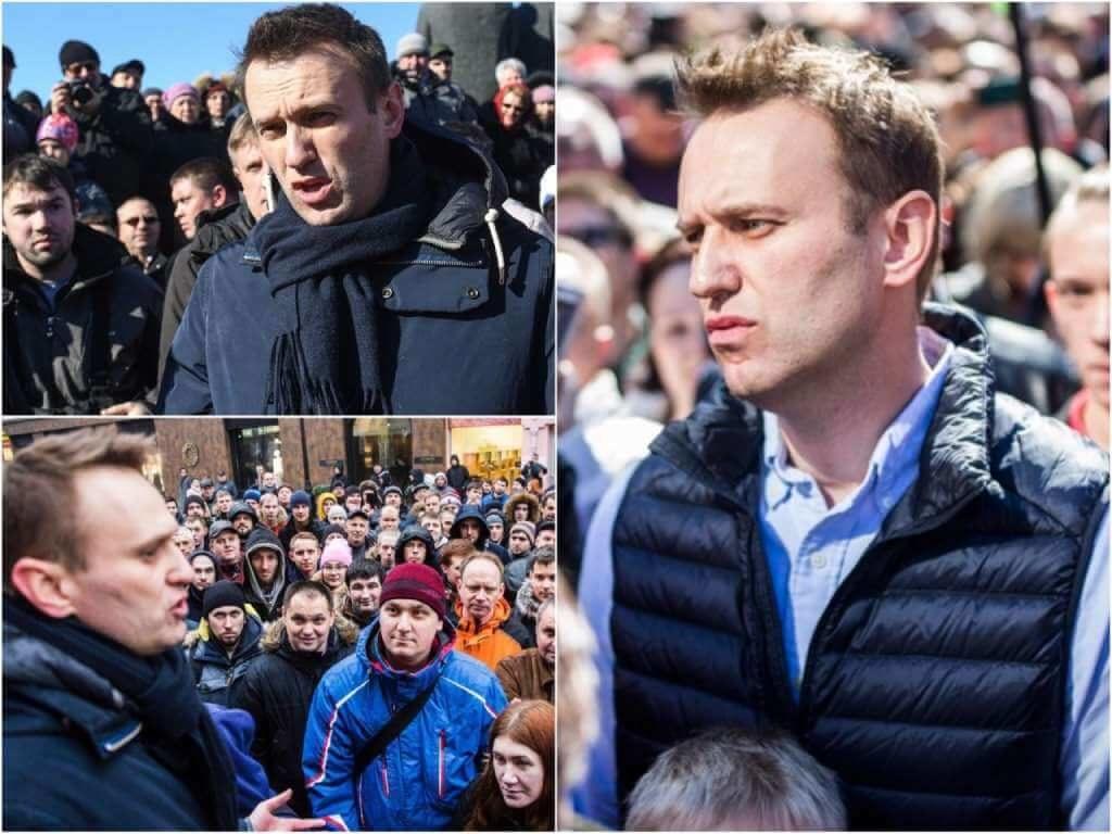 На фото Алексей Навальный на митинге (часть 4).