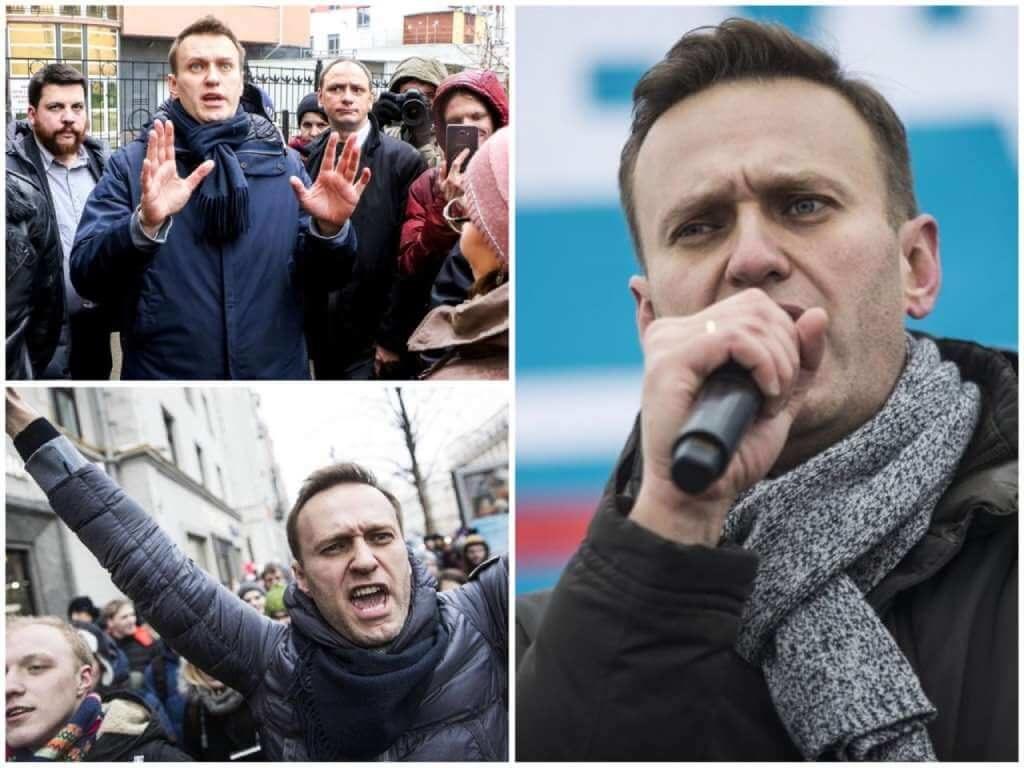 На фото Алексей Навальный на митинге (часть 3).