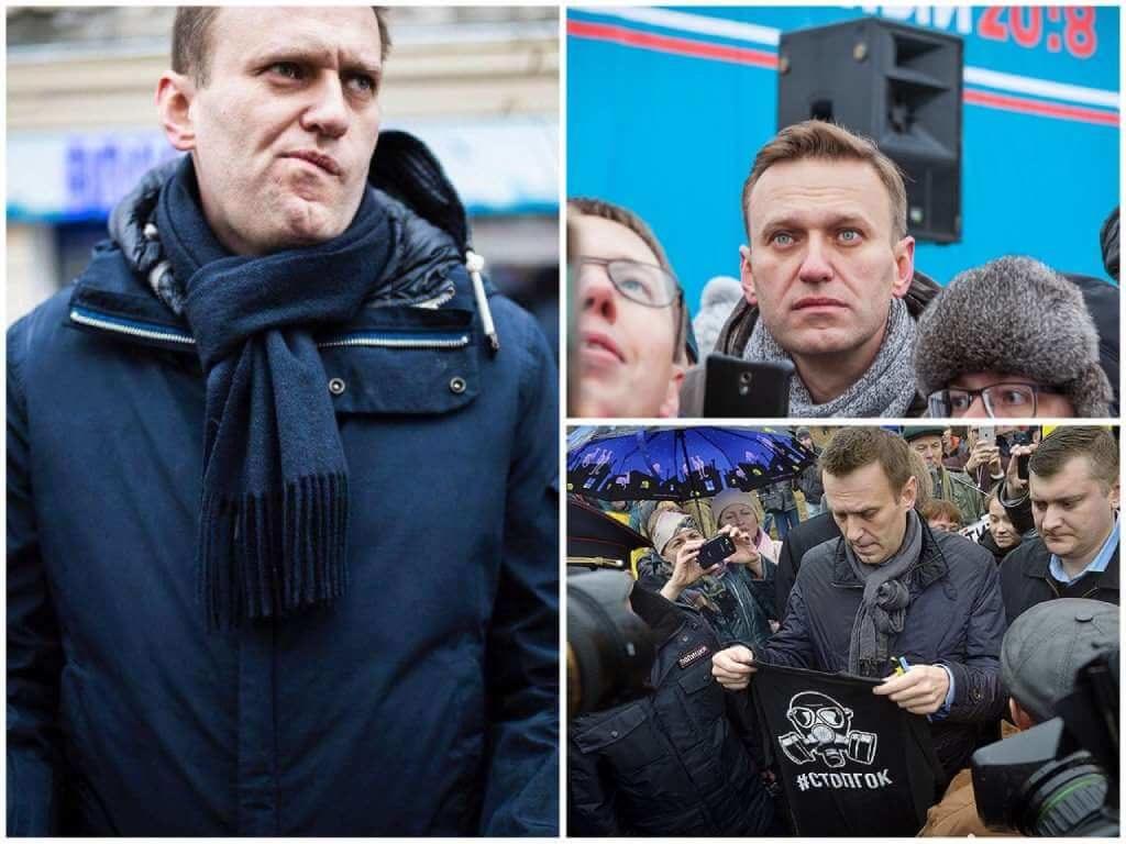 На фото Алексей Навальный на митинге (часть 2).