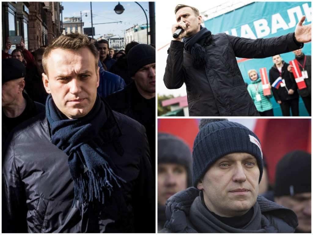 На фото Алексей Навальный на митинге (часть 1).