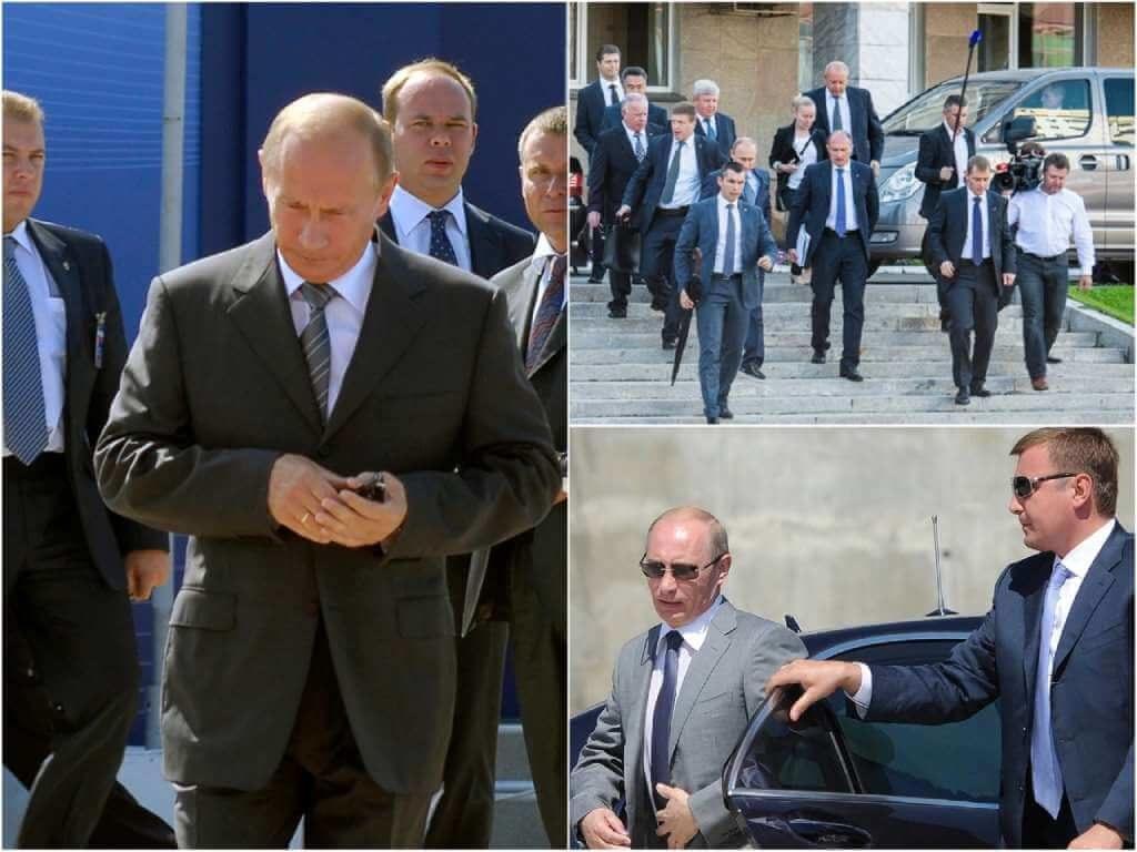 На фото Владимир Путин с охраной (часть 3).