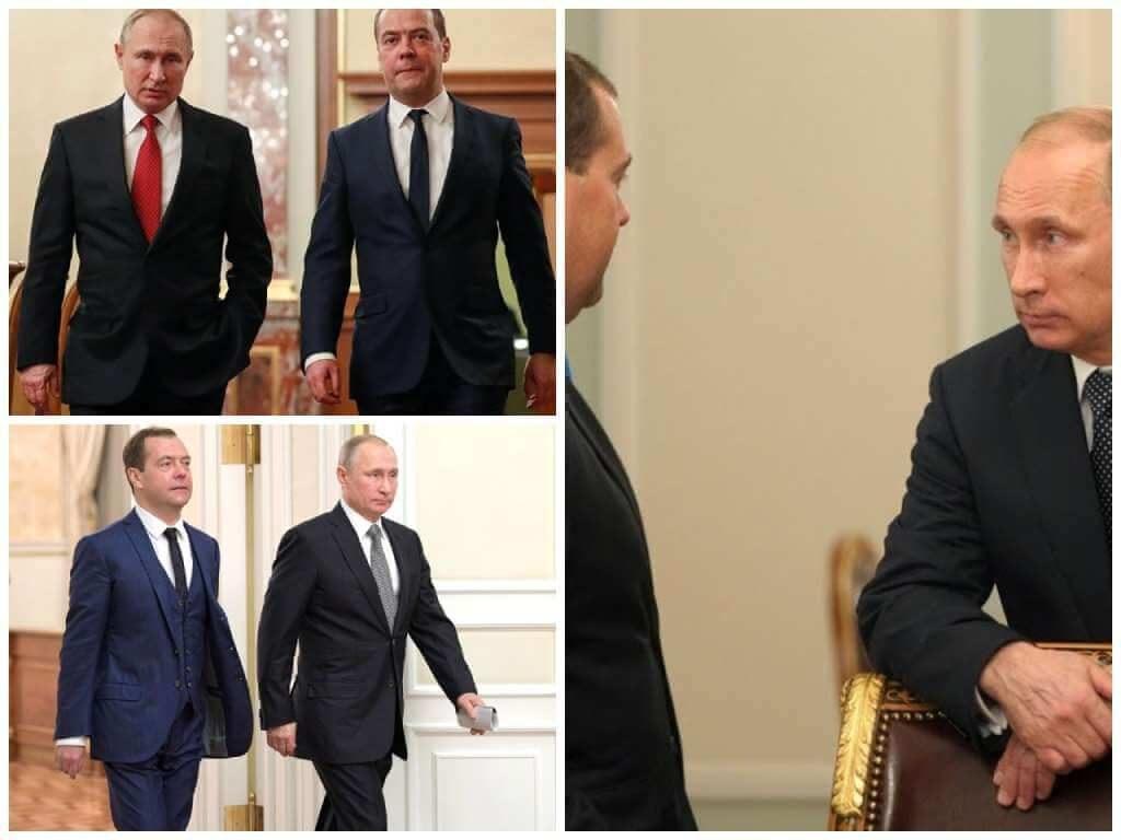 На фото Путин и Медведев (часть 2).