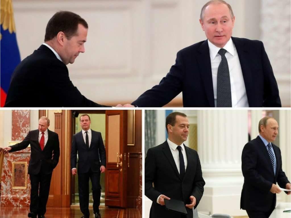 На фото Путин и Медведев (часть 1).