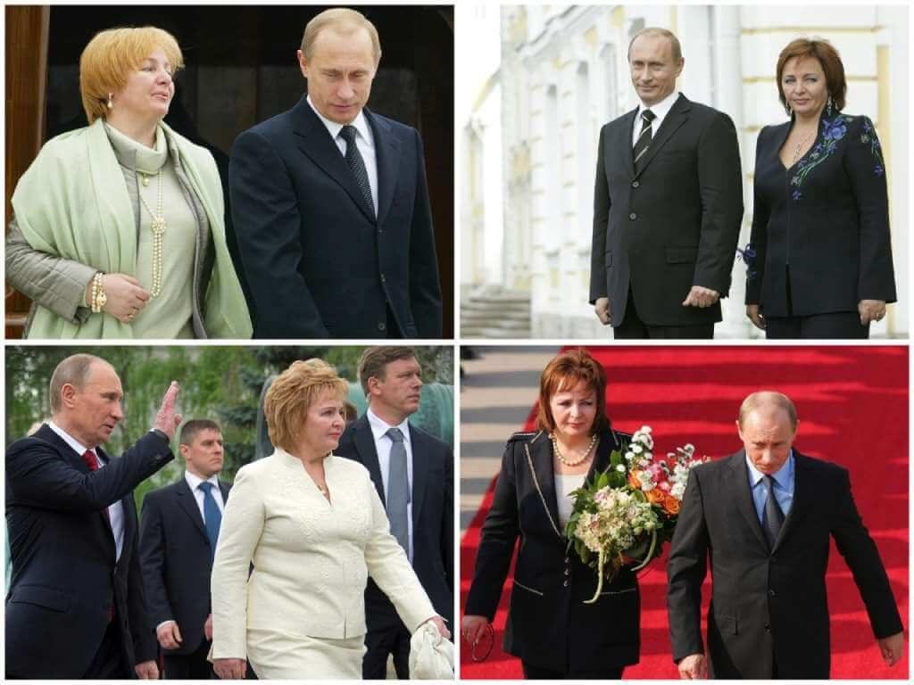 На фото Путин с бывшей женой Людмилой.