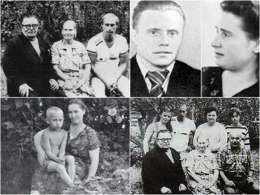 На фото Путин и его родители.