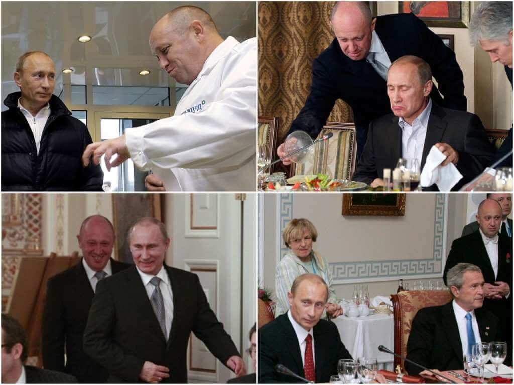 На фото Евгений Пригожин и Владимир Путин.