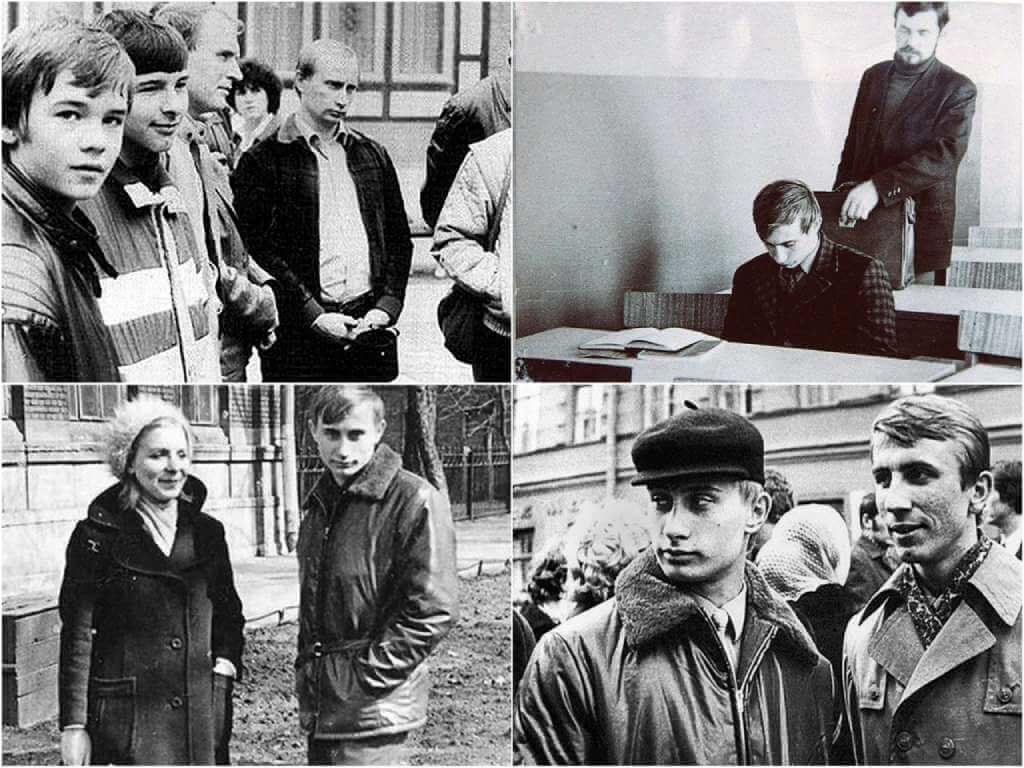 На фото Владимир Путин в молодости.