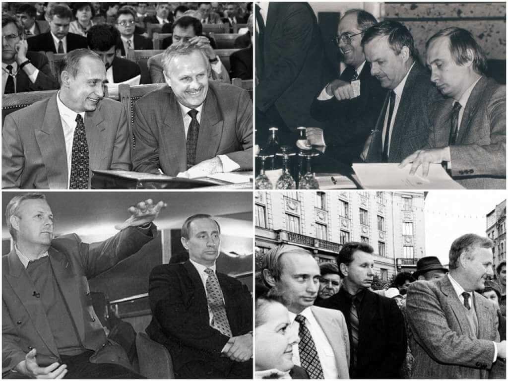 На фото Путин и Собчак.
