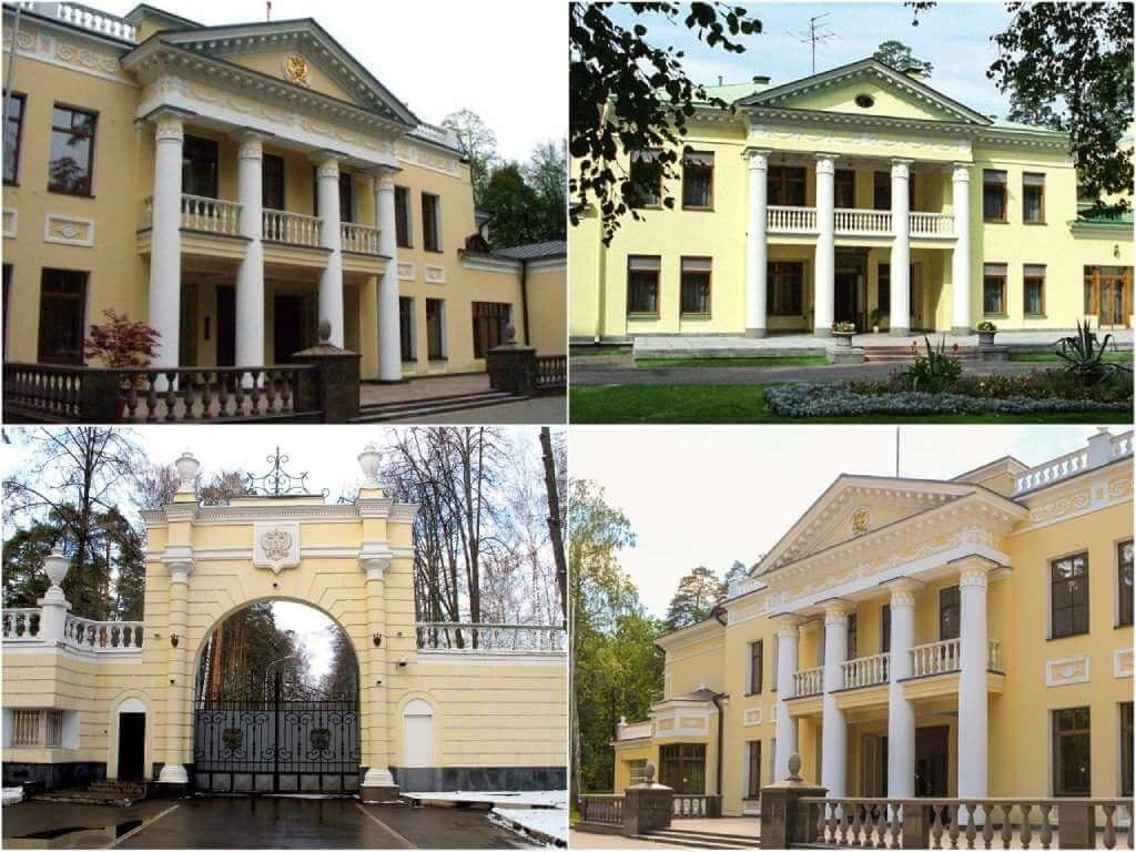 На фото резиденция в Ново-Огарево.