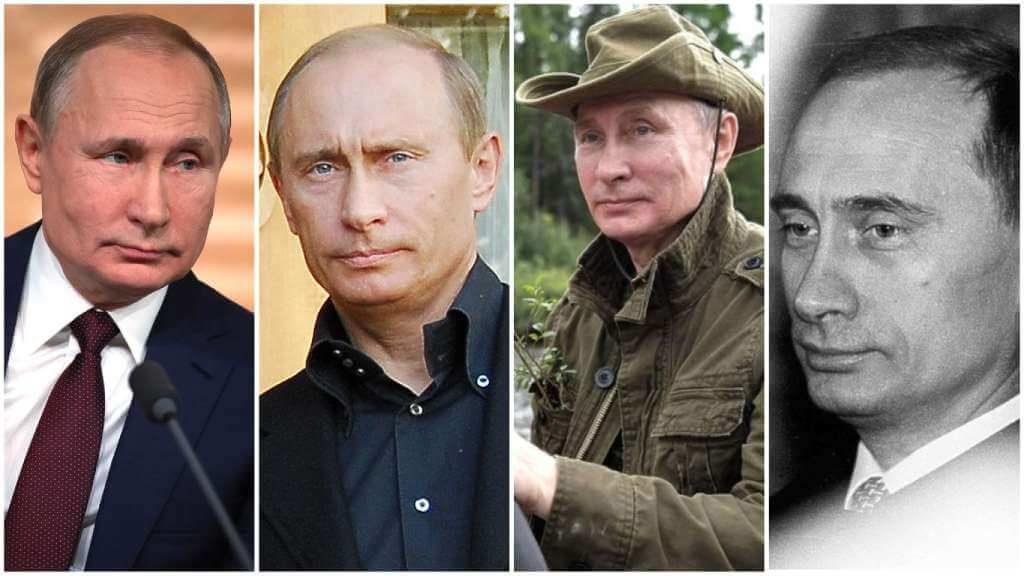 На фото Владимир Путин (снимки разных лет часть 1).