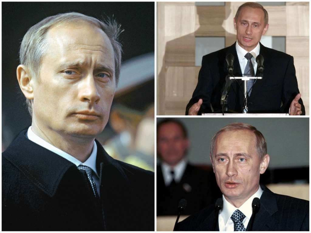 На фото Владимир Путин (2000 год).