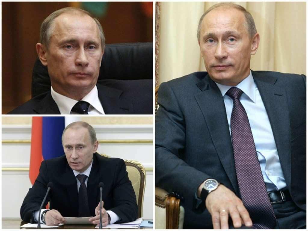 На фото Владимир Путин (2010 год).