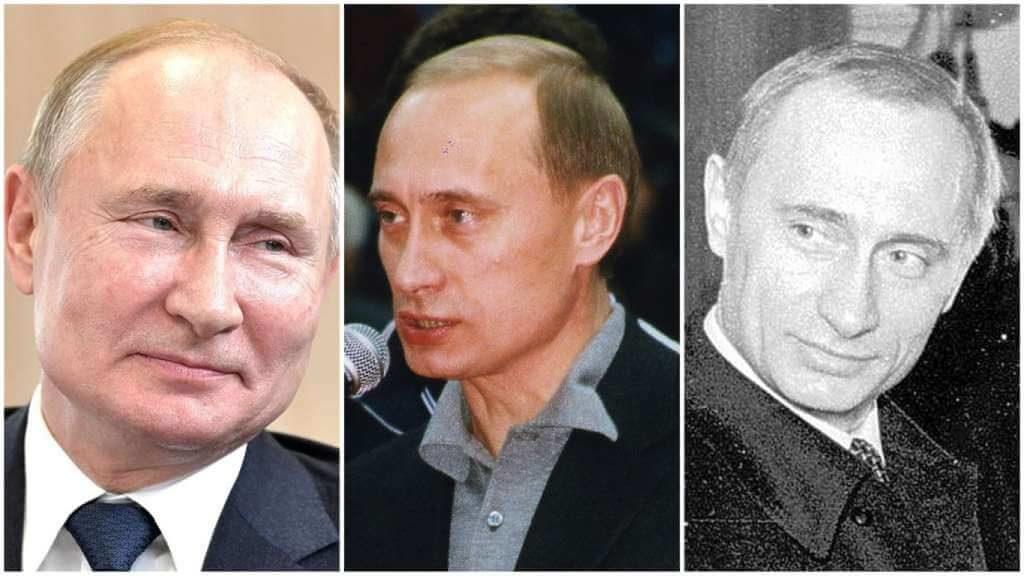 На фото Владимир Путин (снимки разных лет часть 2).