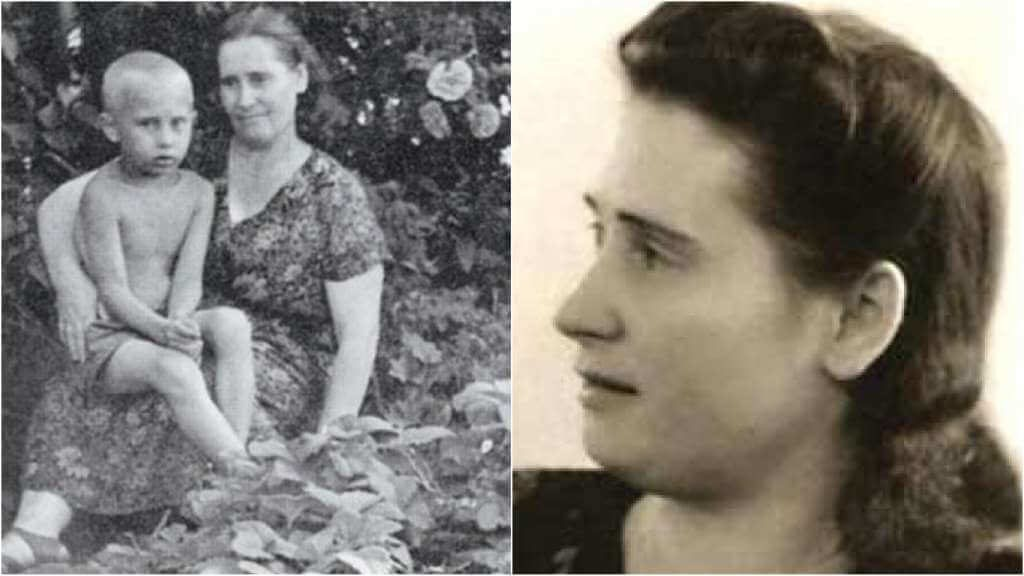 На фото мать Путина.