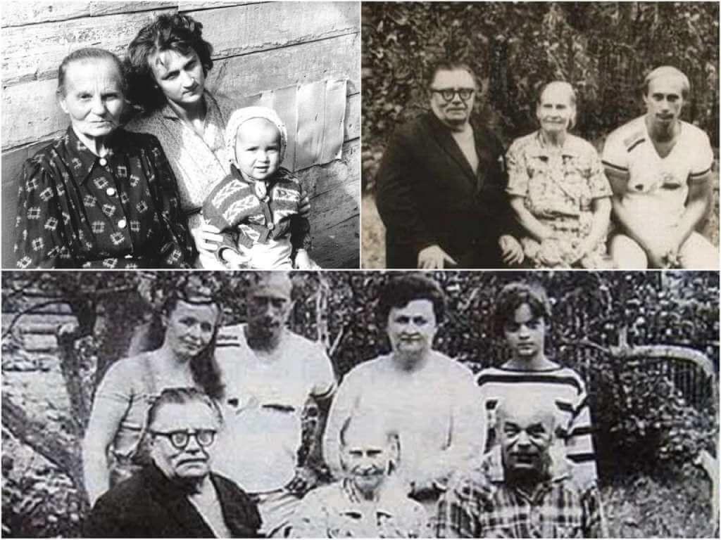 На фото Путин с родителями.
