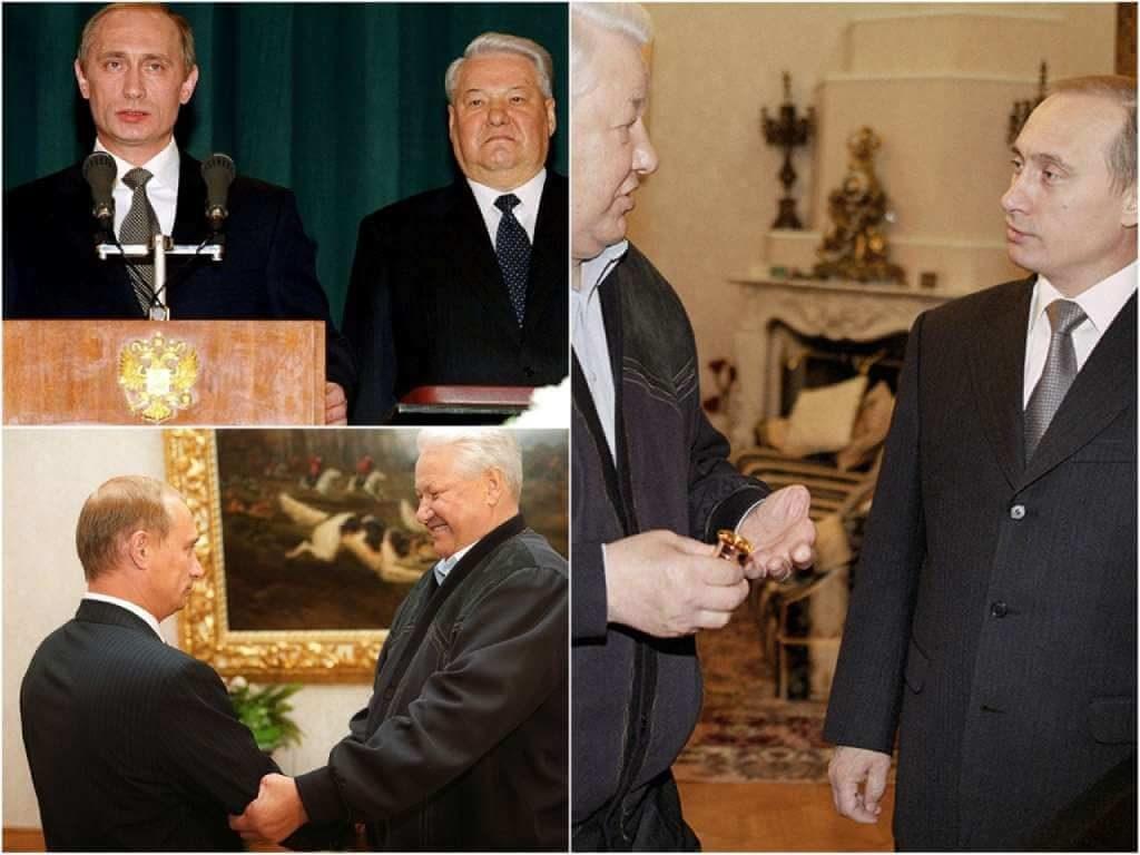 На фото Путин и Ельцин (часть 2).