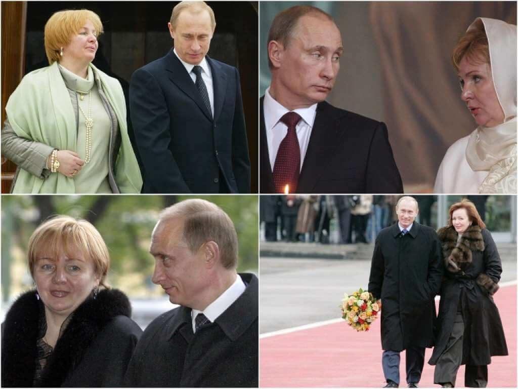 На фото Путин с бывшей женой.
