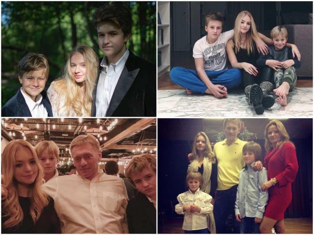 На фото дети Пескова.