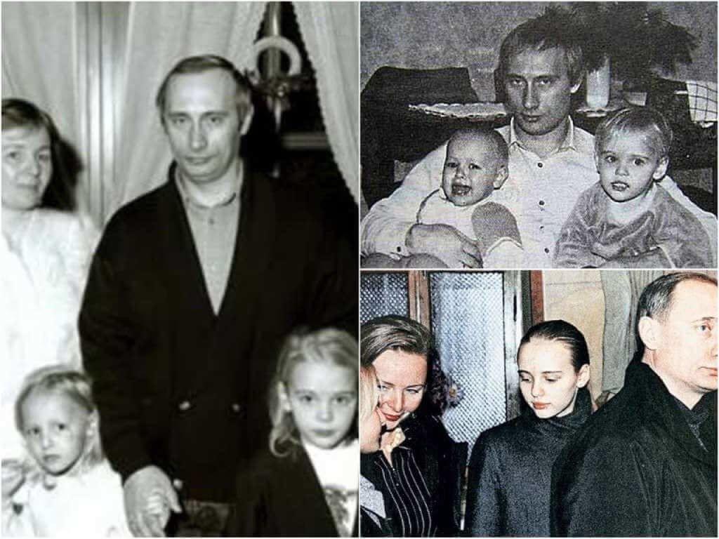 На фото Путин и его дочки.