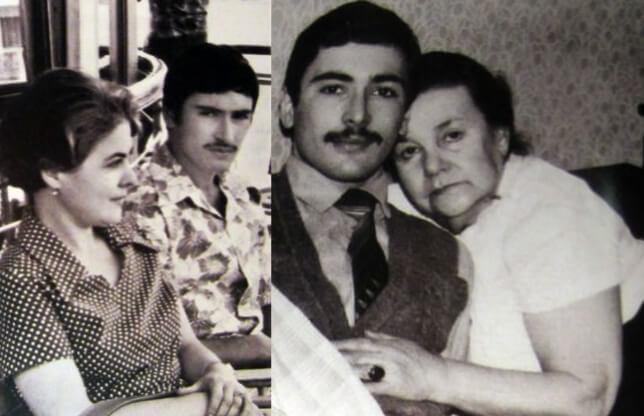 Ходоровский с мамой и бабушкой.